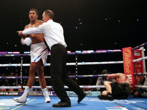 Anthony Joshua knocks out Alexander Povetkin at Wembley (PA)