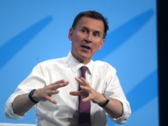 Conservative Party leadership candidate Jeremy Hunt during a Tory leadership hustings in London.