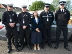 Home Secretary Priti Patel during a visit to Kent Police College (Stefan Rousseau/PA)