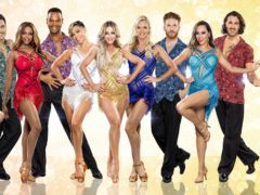 A number of the Strictly Come Dancing professionals take part in the routine (BBC/PA)