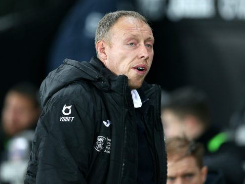 Steve Cooper's Swansea are back at the Liberty Stadium against Luton after away trips to Nottingham Forest and Middlesbrough (Nigel French/PA)