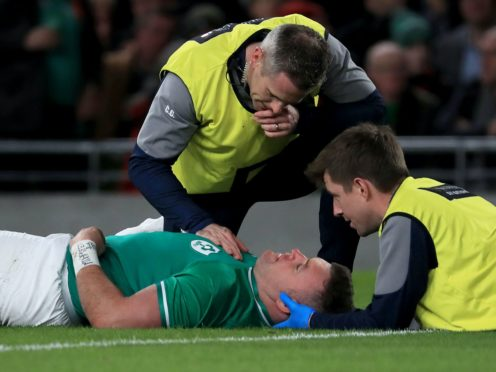 Data released by the RFU for the 2018-19 season shows players were sidelined for an average of 22 days after suffering concussion during a match (Donall Farmer/PA Images).