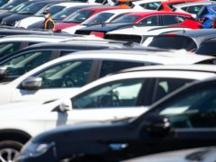 Data from the Society of Motor Manufacturers and Traders shows demand for new cars fell by 27.4% last month (PA)