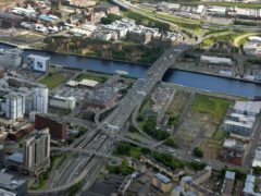 The Kingston Bridge in Glasgow (Transport Scotland/PA)