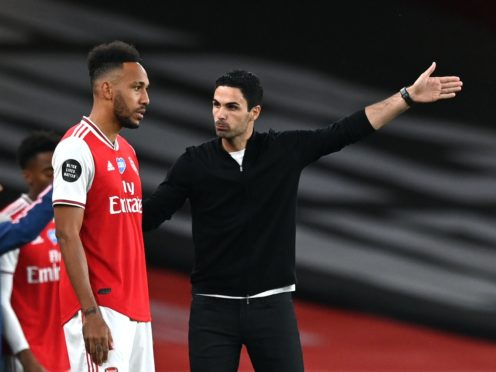 Arsenal boss Mikel Arteta has backed Pierre-Emerick Aubameyang to start scoring again soon (Shaun Botterill/NMC Pool)
