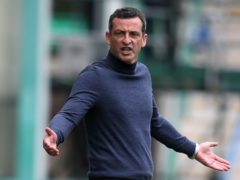 Hibernian boss Jack Ross was angry with his players (Andrew Milligan/PA)