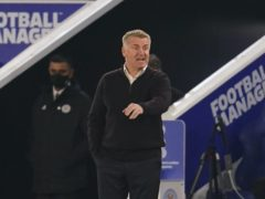Aston Villa manager Dean Smith takes his side to West Brom on Sunday. (Jon Super/PA)