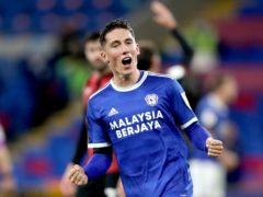 Cardiff's Harry Wilson could miss the Welsh derby with Swansea after suffering an arm injury (David Davies/PA)