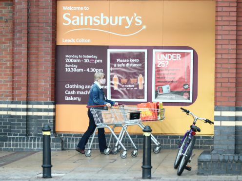 Sainsbury's market share is the same as it was this time last year (Danny Lawson/PA)