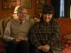 Dawn French as Reverend Geraldine Granger and James Fleet as Hugo Horton in The Vicar Of Dibley In Lockdown (Des Willie/BBC/Tiger Aspect Productions Ltd/PA)