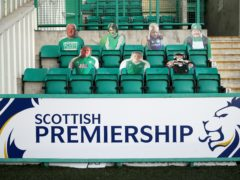 Hibs can go second in the Scottish Premiership on Saturday (Andrew Milligan/PA)