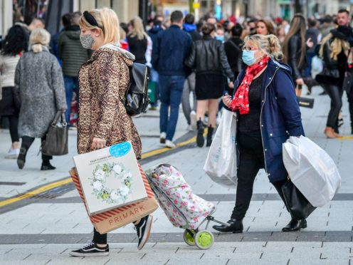 Shoppers in Cardiff (PA)