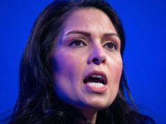 Home Secretary Priti Patel has sharply criticised campaigners opposing the deportation of a group of convicted criminals to Jamaica (Dominic Lipinski/PA)