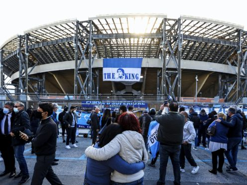 Napoli's San Paolo Stadium has been renamed after Diego Maradona (Alessandro Garofalo/LaPresse via AP)