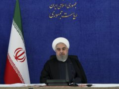Iranian President Hassan Rouhani has said the move would be 'harmful' to diplomatic efforts (AP)