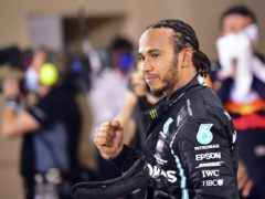 Lewis Hamilton is available to race for Mercedes on Sunday (Giuseppe Cacace/AP)