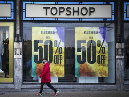Administrators have confirmed that gift cards can only be used to cover 50% of the price of their purchase (Jane Barlow/PA)