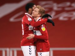 Duncan Watmore, right, shone for Middlesbrough (Mike Egerton/PA)