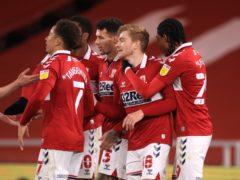 Duncan Watmore celebrates Middlesbrough's second goal (Mike Egerton/PA)