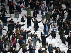West Ham United fans in the stands prior to kick-off during the Premier League match at The London Stadium (Julian Finney/PA)