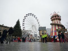The Christmas market in Nottingham has been closed for the rest of the year (Zac Goodwin/PA)