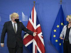 Prime Minister Boris Johnson with European Commission president Ursula von der Leyen (Aaron Chown/PA)