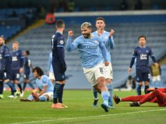 Sergio Aguero scored against Marseille (Peter Powell/PA)