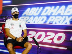 George Russell in the press conference ahead of Sunday's Abu Dhabi Grand Prix