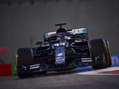 Lewis Hamilton is back behind the wheel of his Mercedes (Giuseppe Cacace/AP)