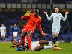 Chelsea goalkeeper Edouard Mendy's foul on Dominic Calvert-Lewin proved costly (Jon Super/PA)