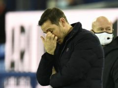 Frank Lampard's Chelsea side slipped to their first defeat in 18 matches at Everton (Peter Powell/PA)