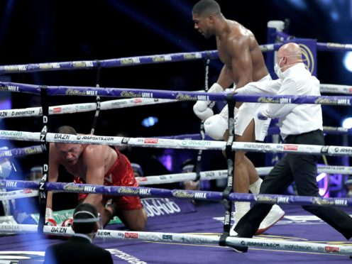 Anthony Joshua beat Kubrat Pulev in the ninth round at Wembley's SSE Arena (Andrew Couldridge/PA)