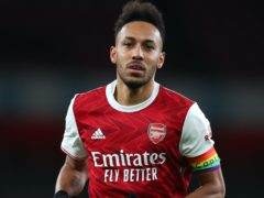 Pierre-Emerick Aubameyang has backed Arsenal youngsters to succeed if they get the chance. (Catherine Ivill/PA)