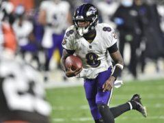 Baltimore Ravens quarterback Lamar Jackson (David Richard/AP)