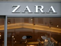 Inditex said sales falls narrowed to 14% in local currencies over its third quarter (Yui Mok/PA)