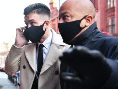 Aston Villa captain Jack Grealish outside Birmingham Magistrates' Court (Jacob King/PA)