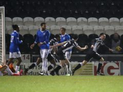 Conor McCarthy, right, scored a last-gasp winner for St Mirren against Rangers (Andrew Milligan/PA)