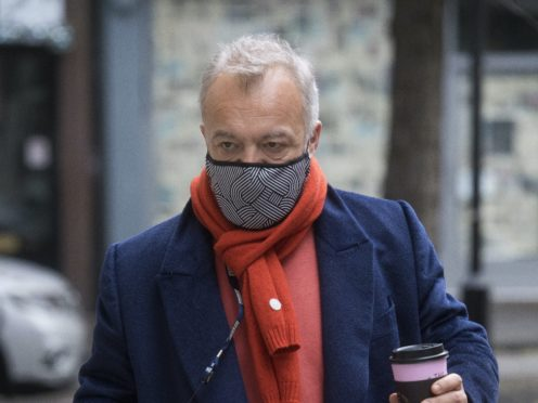 Graham Norton arrives at Wogan House in London to broadcast his final BBC Radio 2 programme after 10 years (Kirsty O'Connor/PA)
