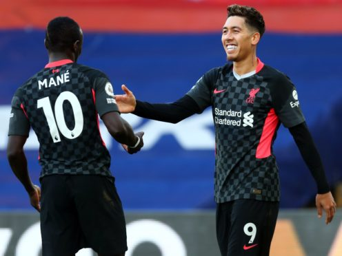 Roberto Firmino scored twice as Liverpool romped to victory at Selhurst Park (Clive Rose/PA)