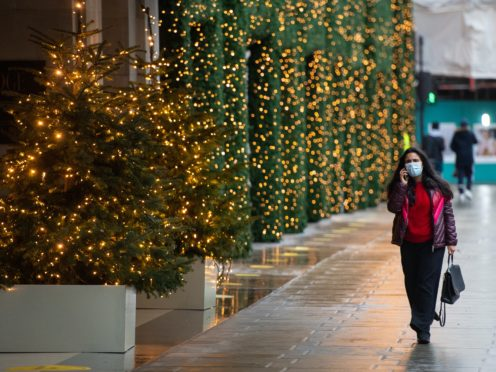 An estimated 645,800 people in private households in England had Covid-19 between December 12 and 18 (Dominic Lipinski/PA)