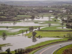 Flooded fields in Carmarthenshire (Ben Birchall/PA)
