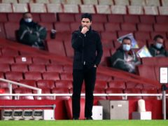 Pep Guardiola has urged Arsenal to be patient with Mikel Arteta (Nick Potts/PA)