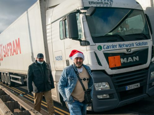Thousands of international lorry drivers are spending Christmas Day at the English Channel border (Aaron Chown/PA)