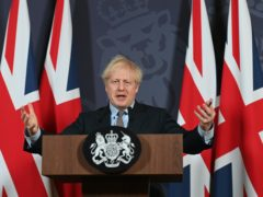 Prime Minister Boris Johnson during a media briefing in Downing Street, London, on the agreement of a post-Brexit trade deal (Paul Grover/Daily Telegraph/PA)