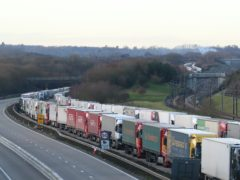 New rules for lorry drivers heading for the EU via Kent from January 1 (Gareth Fuller/PA)