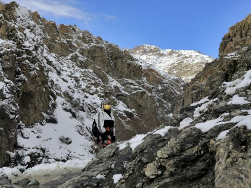 The mountains are a popular location for hiking and climbing (Ebrahim Noroozi/AP)