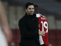 Mikel Arteta was a happy man after Arsenal's win (Adrian Dennis/PA)