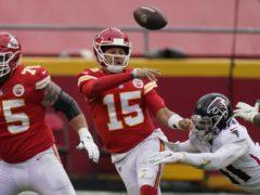 Kansas City Chiefs quarterback Patrick Mahomes guided his side to a win over the Atlanta Falcons (Charlie Riedel/AP)