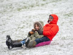 People enjoying the wintry weather at Darley Park, in Derby (Jacob King)