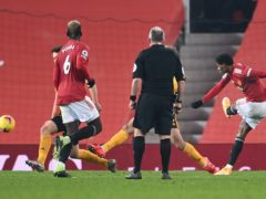 Marcus Rashford scored a late winner for Mancheser United (Laurence Griffiths/PA)
